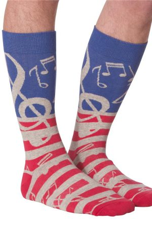 USA Music K Bell Men's Crew Socks Grey