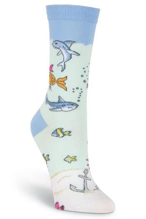 Attitude Fish K Bell Women's Crew Socks