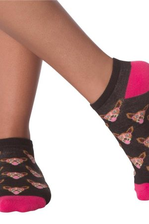 Dogs In Glasses Set K Bell Women's No Show Socks