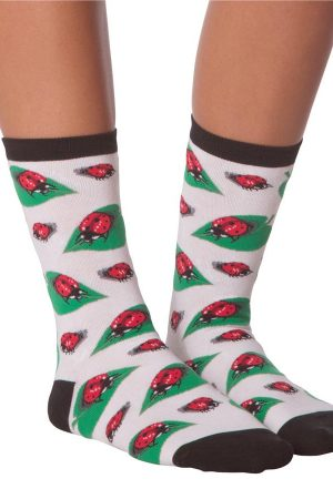Ladybugs K Bell Women's Crew Socks
