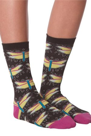 Dragonflies K Bell Women's Crew Socks