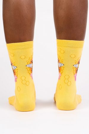 Queen Bee Sock It To Me Women's Crew Socks Yellow