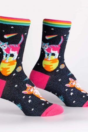 Space Cats Sock It To Me Women's Crew Socks