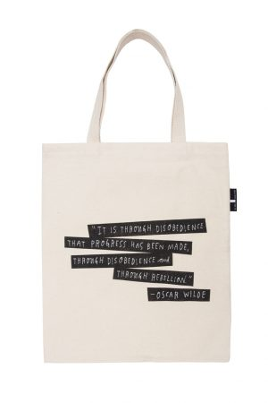Punk Rock Authors Out Of Print Book Cover Canvas Tote Bag