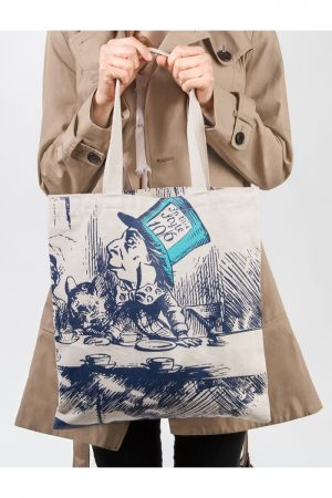 Alice in Wonderland Out Of Print Book Cover Canvas Tote Bag