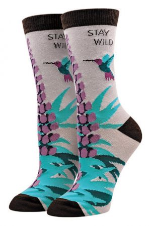 Stay Wild Sock Harbor Women's Crew Socks New