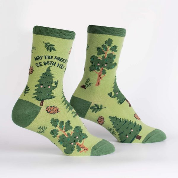 May The Forest Be With You Sock It To Me Women's Crew Socks