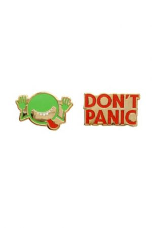 The Hitchhiker's Guide to Galaxy Out Of Print Enamel Lapel Pin