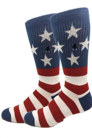 USA Flag Bigfoot Sock Co. Men's Active Socks Crew Length