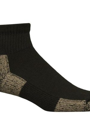 Ultimate Protection Unisex Ankle Socks Black New Medium