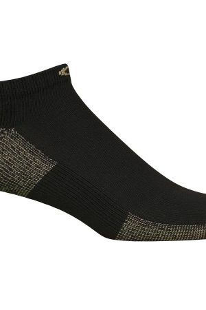 Everyday Active Athletic Unisex Low Cut Socks Black X-Large 3-Pair Copper