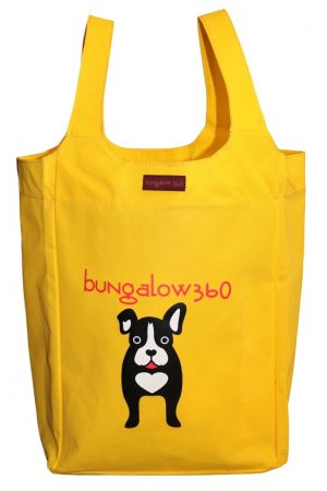 "Black Dog Bungalow360 Big Bag Tote New Re-Usable 16.5""h x 12""w x 7""d"