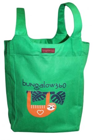 """Sloth Bungalow360 Big Bag Tote New Re-Usable 16.5""""h x 12""""w x 7""""d"""