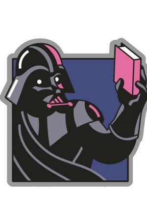 Darth Vader Star Wars READ Out Of Print Enamel Lapel Pin