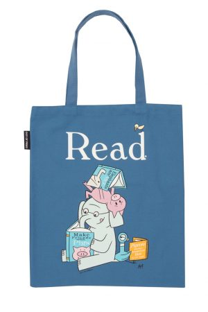Elephant & Piggie Out Of Print Book Cover Canvas Tote Bag
