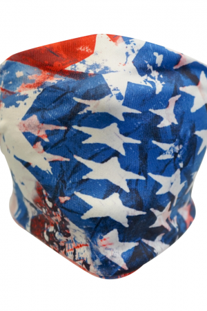 Star Spangled Banner Sox Trot Tie Mask - Headband New