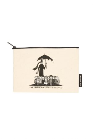"""The Gashlycrumb Tinies Out Of Print Canvas Pouch New 9"""" w x 6"""""""