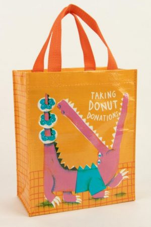 Taking Donut Donations Blue-Q Handy Tote New