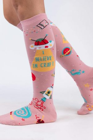 I Believe in Craft Sock It To Me Women Knee High Socks