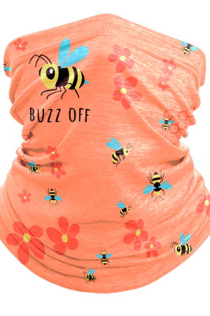 Buzz Off Bee Ocean Beach Neck Gaiter