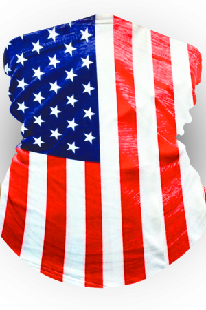 American Flag Ocean Beach Neck Gaiter