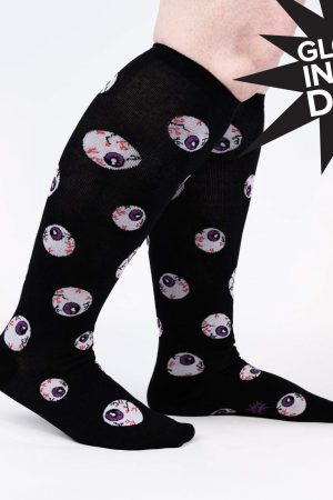 All Eyes On Me Stretch-It™ Unisex Knee High Socks New XL
