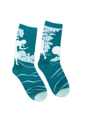 Nancy Drew Out of Print Unisex Crew Socks Large New