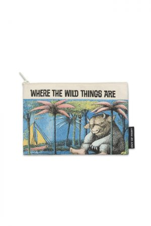 "Where The Wild Things Are Out Of Print Canvas Pouch New 9"" w x 6"" h"