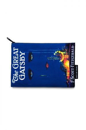 "The Great Gatsby Out Of Print Canvas Pouch New 9"" w x 6"" h"