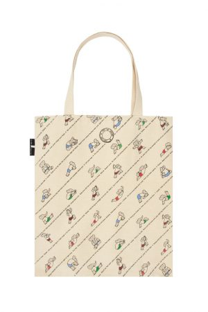Babar's Yoga for Elephants Out Of Print Book Cover Canvas Tote Bag