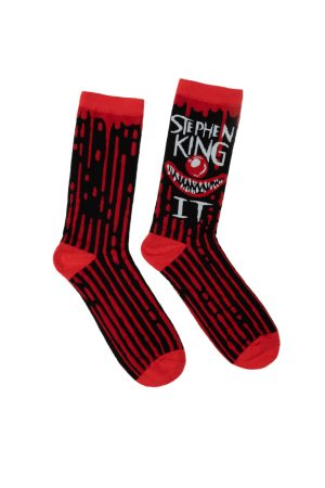 Stephen King's IT Out of Print Unisex Large Crew Socks Novelty Clown