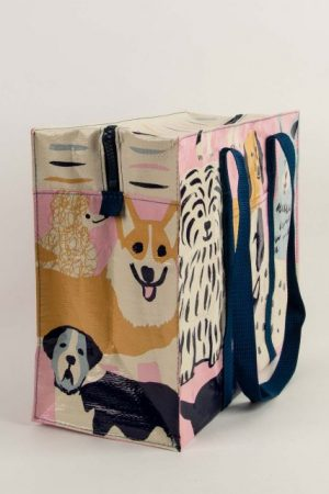 Happy Dogs Blue-Q Shoulder Tote New Reusable