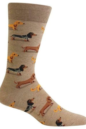 Dachshunds Hot Sox Men's Crew Socks Hemp New