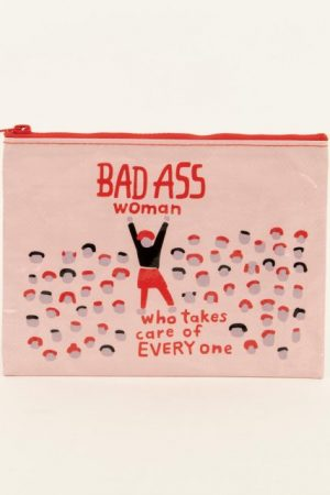 Bad A** Woman Who Takes Care Blue-Q Standard Pouch New