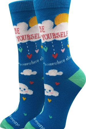 Be Yourself, Somewhere Else Sock Harbor Women's Crew Socks