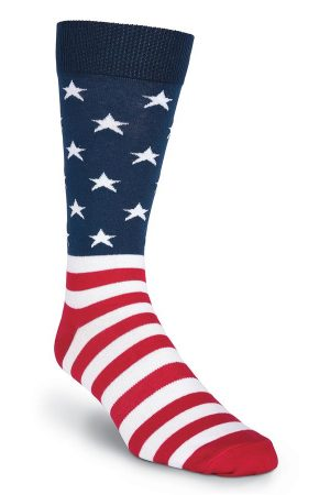 American Flag Men's Crew Socks X-Large 13-15 New
