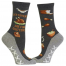 Leftovers Are 4 Quitters Hot Sox Women's Non-Skid Crew Socks Grey