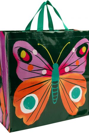Big Butterfly Blue-Q Shopper Tote New Re-Usable