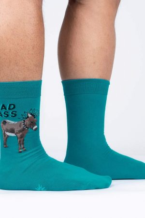 A Real Bad A** Sock It To Me Men's Crew Socks Teal New