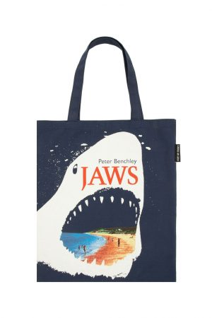 Jaws Out Of Print Book Cover Canvas Tote Bag New